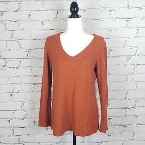 Eileen Fisher Burnt Orange Longsleeve Sweater